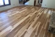 Installed Hickory flooring.