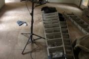 Preparing to install Hickory flooring.