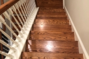 Red Oak staircase - pre-refinishing