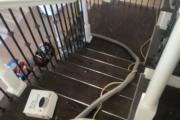 Red Oak stairway - pre-refinishing