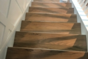 Refinished Red Oak stairway.