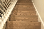 Sanded Red Oak staircase