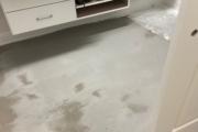 Installing French Oak flooring in the herringbone pattern.
