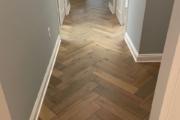 French Oak flooring installed in the herringbone pattern.