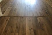 Installed Luxury Vinyl Plank flooring.