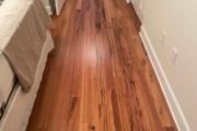 Installed Tigerwood flooring.