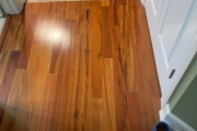 Old wood flooring cut square.