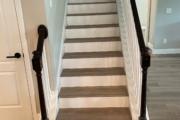 Luxury Vinyl Plank staircase - installed.