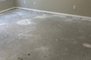 Carpeting removed for LVP installation.