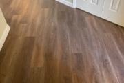 Luxury Vinyl Plank flooring installed.