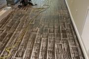 Tile flooring after grinding.